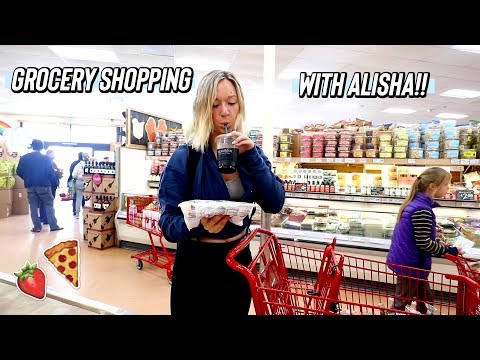 grocery shopping with alisha at trader joes!!