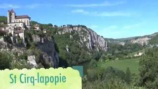 tourisme  lot - cahors rocamadour st cirq lapopie