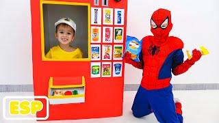 Máquina expendedora de superhéroes Vlad y Nikita historia de juguetes para niños