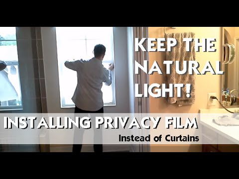 Window Privacy Film Frosted Glass Look How To Apply Easy Diy Project
