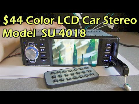 "$40 Color 4.1"" LCD Bluetooth MP3 MP4 Car Stereo Model SU-4018 - Gearbest"