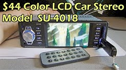"""$40 Color 4.1"""" LCD Bluetooth MP3 MP4 Car Stereo Model SU-4018 - Gearbest"""