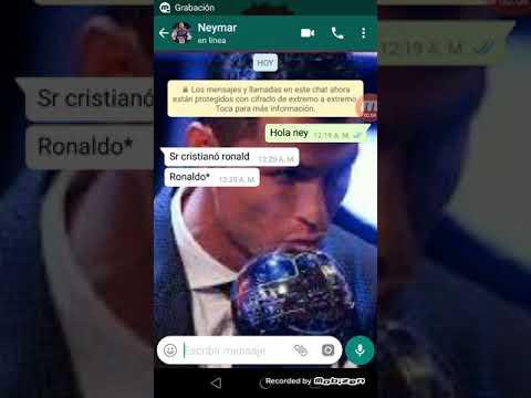 Chat de Cristiano Ronaldo y neymar