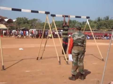 Indian Army Recruitment Bharti Army Pull ups live