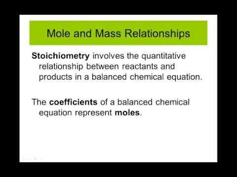 Mass Stoichiometry And Mass Relationships Relationships