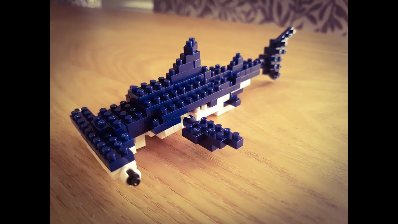 lego nanoblocks hammerhead shark speek build youtube