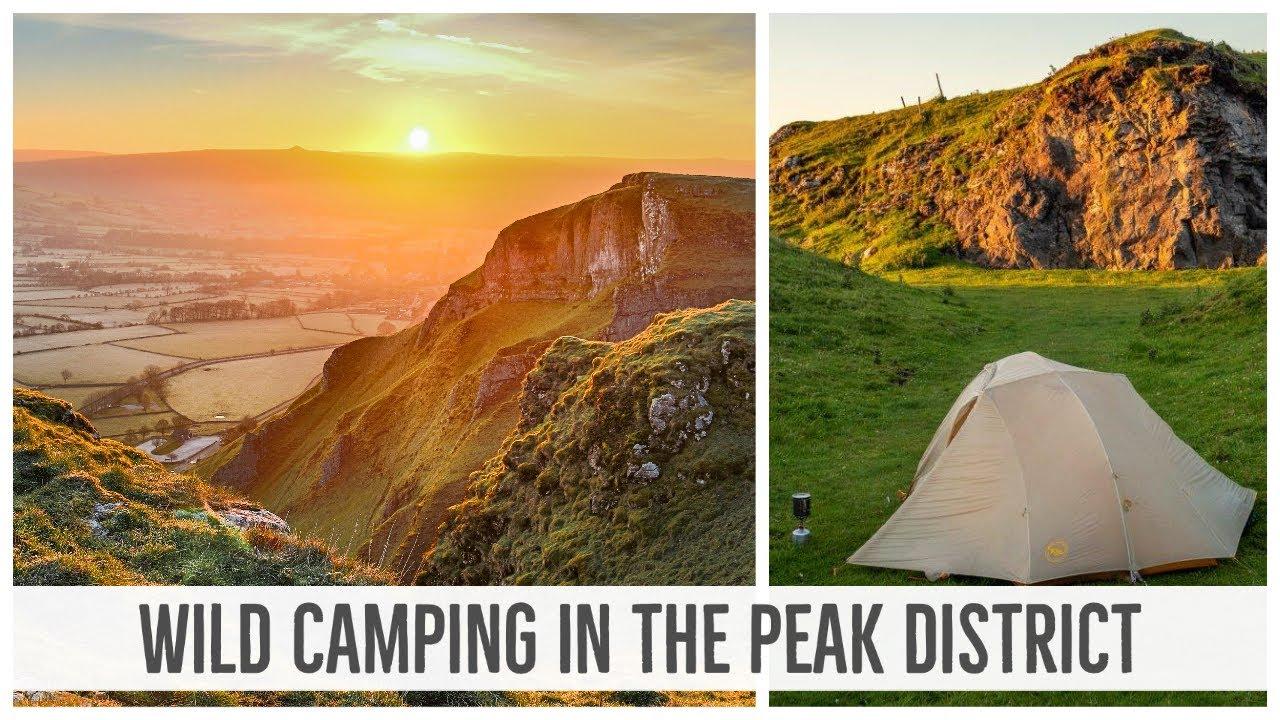 Wild Camping In The Peak District Mam Tor Winnats Pass Youtube
