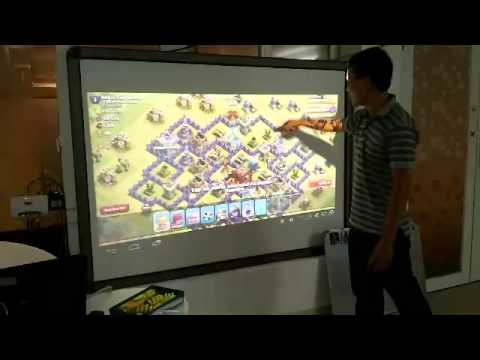 Playing Clash of Clans on the biggest screen ever