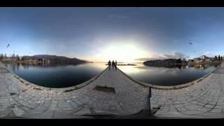 First 4k - 360 Video in Macedonia, Lake Ohrid - Ohrid