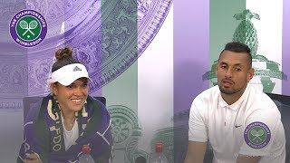 Gambar cover Nick Kyrgios and Desirae Krawczyk Wimbledon 2019 First Round Press Conference