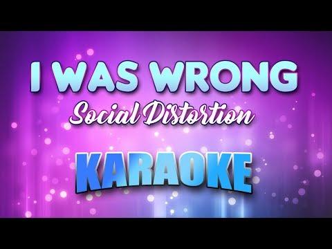 Social Distortion - I Was Wrong (Karaoke & Lyrics)