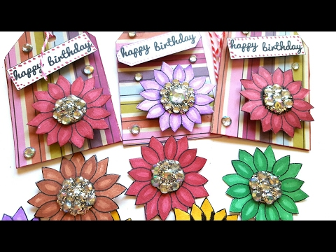 Rhinestone Birthday Gift Tags for Spring