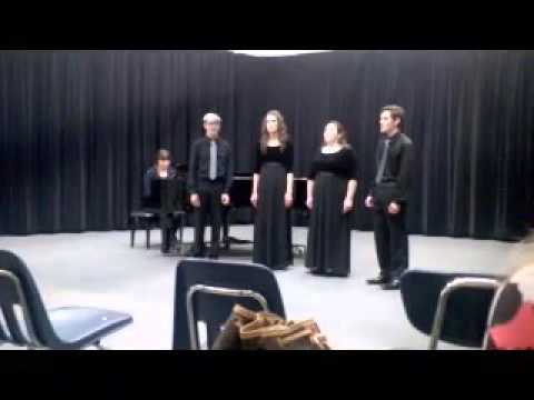Mazama High School singing Capella at Grants Pass High School