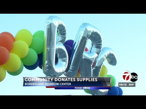 Borderland Rainbow Center celebrates anniversary with food drive
