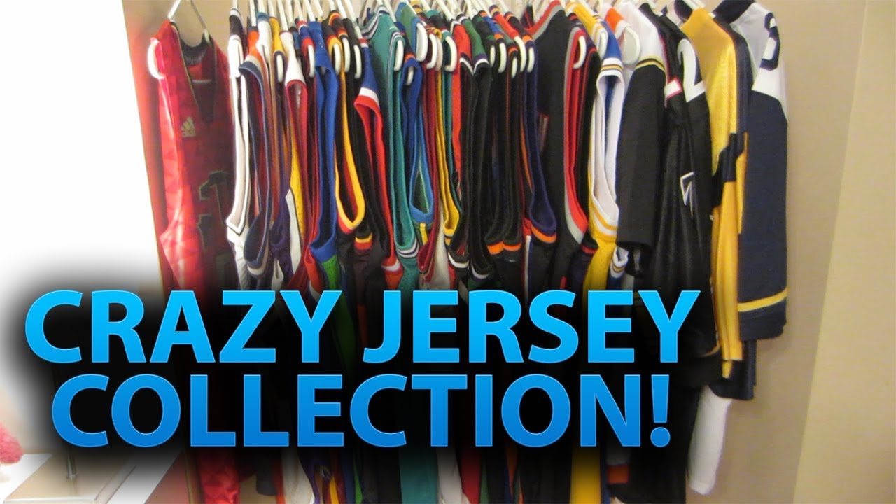 CRAZY JERSEY COLLECTION | Over 30 NBA, NFL, MLB Jerseys! (1k Subscriber Special!)