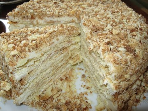 торт наполеон без выпечки рецепт