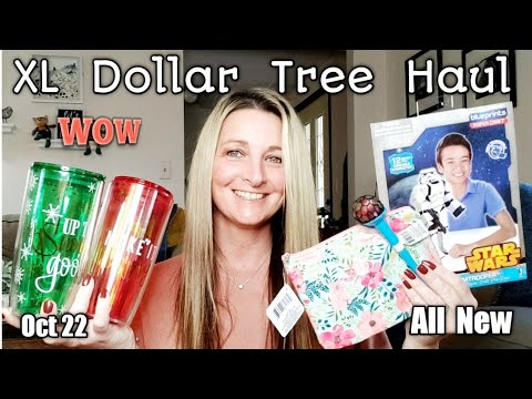 EXTRA LARGE Dollar Tree Haul/ All NEW/ Trying out Items/ Oct 22