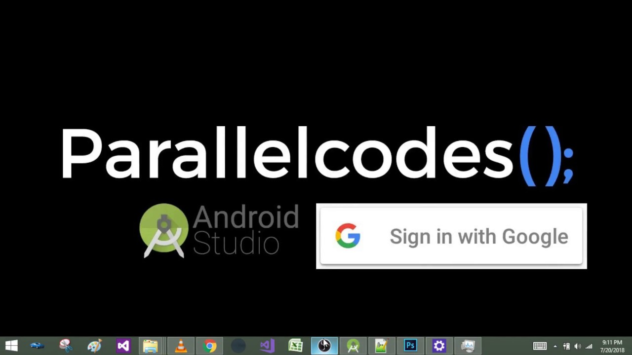 Android Login with Google Account Programmatically Example
