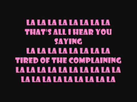 la la la  auburn ft iyaz w lyrics