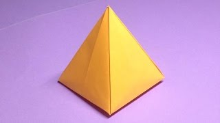 How to make a paper pyramid   Easy origami pyramids for beginners making   DIY-Paper Crafts