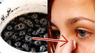 Frau schmiert sich Kaffee an die Augen. Nach 2 Min. ist sie kaum wiederzuerkennen.