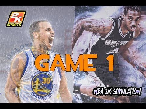 San Antonio Spurs vs Golden State Warriors - Game 1 - Full game | May 14, 2017 | NBA 2K17