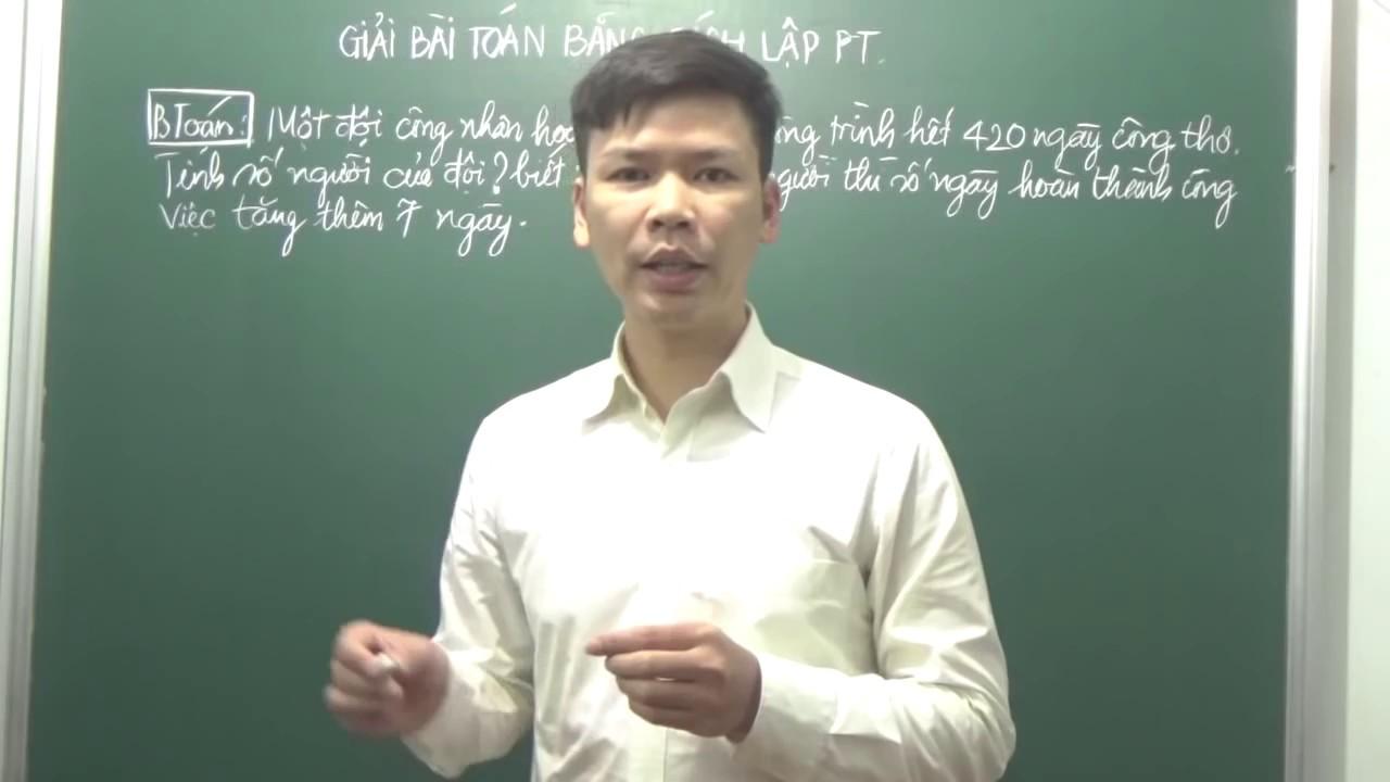 Toán 9 – Giải bài toán bằng cách lập phương trình