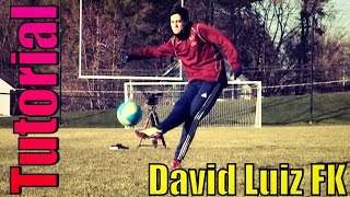 David luiz knuckleball freekick tutorial | doubledoublesoccer | tips to success | brazil world cup