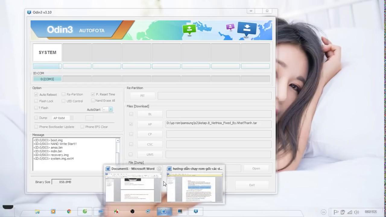 Hướng dẫn chạy lại phần mềm samsung bằng odin (flash rom by odin )