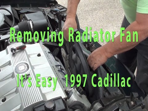How to remove and replace your radiator Fan 1997 Cadillac Deville DIY what mechanics won't tell you