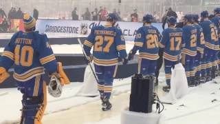 St. Louis Blues heading onto the ice at the 2017 Winter Classic at Busch Stadium