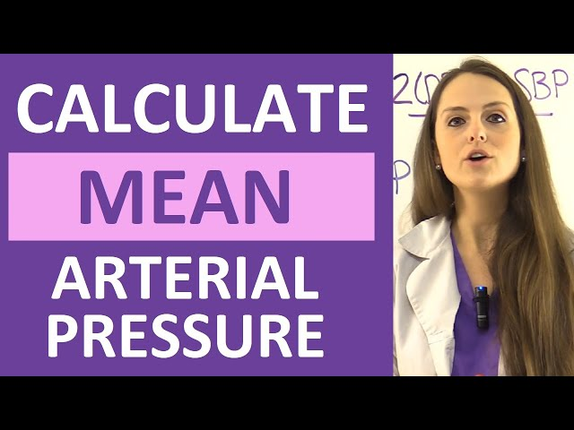 Mean Arterial Pressure Map Calculation Formula Explained Nursing