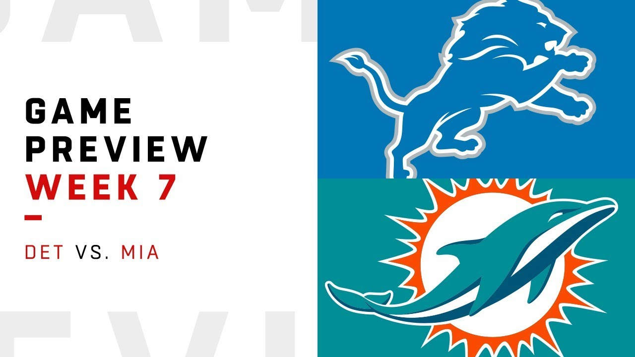 Detroit Lions vs. Miami Dolphins | Week 7 Game Preview | NFL Film Review