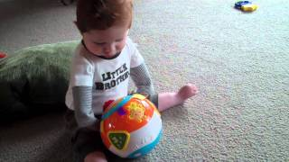 My little man playing ball - Arthrogryposis