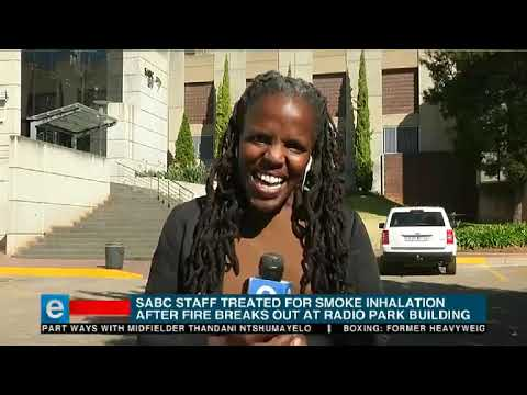 Fire at SABC building