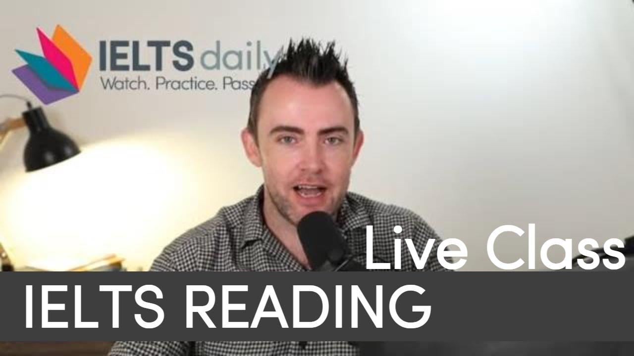 [IELTS LIVE CLASS] - Reading Practice (1)