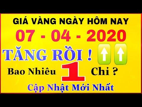 giá vàng 9999 hôm nay 7/4/2020 bao nhiêu một chỉ ? | giá VÀNG SJC 9999 24K Bất Ngờ TĂNG Nhẹ ?