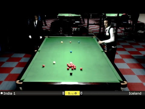 Snooker World Team Cup Groups : India 1 vs Iceland