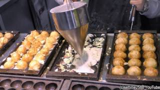 Hong Kong Street Food from Japan. Takoyaki Octopus Snack Cooked in Mong Kok