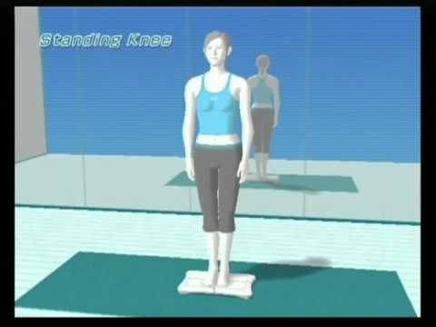 day 5 of wii fit standing knee  youtube