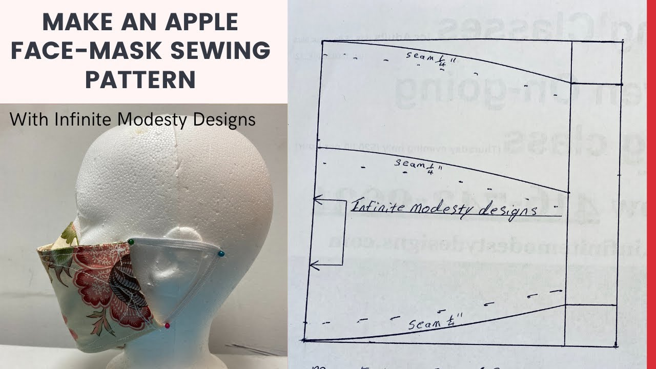 How to draft an Apple FaceMask Sewing Pattern