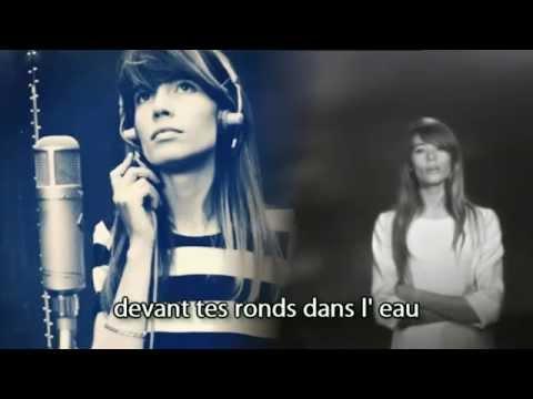 FRANCOISE HARDY Des ronds dans l'eau (1967) - lyrics photo video!