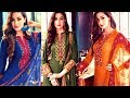 EMBROIDERED WINTER COLLECTION MATERIAL - LATEST SUITS FOR GIRLS 2017 - 2018