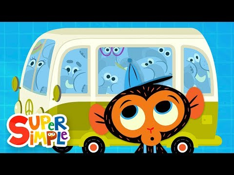 The Elephant Family's Van Is Too Small   Cartoon For Kids