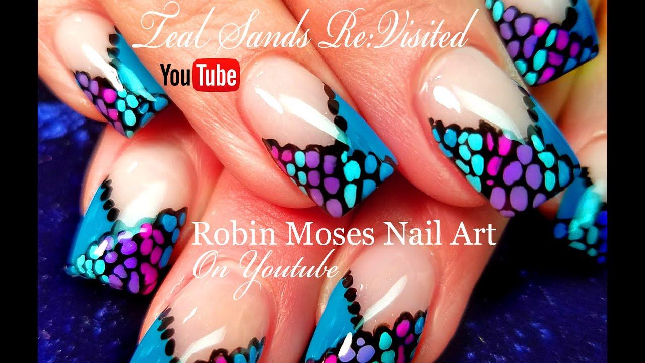 Easy Diy French Mani Chevron Dot Nail Art Design Tutorial Youtube