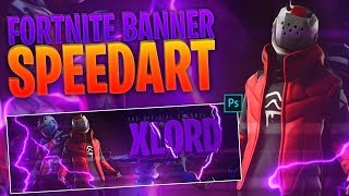 Fortnite X-Lord Header SpeedArt - GRATUIT PSD!