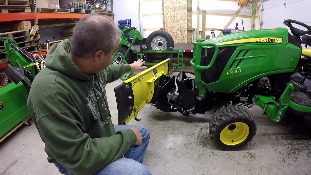 deere 54 quick hitch snow blade installation review [ 1280 x 720 Pixel ]