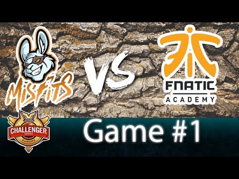 MISFITS A VS FNATIC A • GAME 1 - CHALLENGER SERIES UP&DOWN