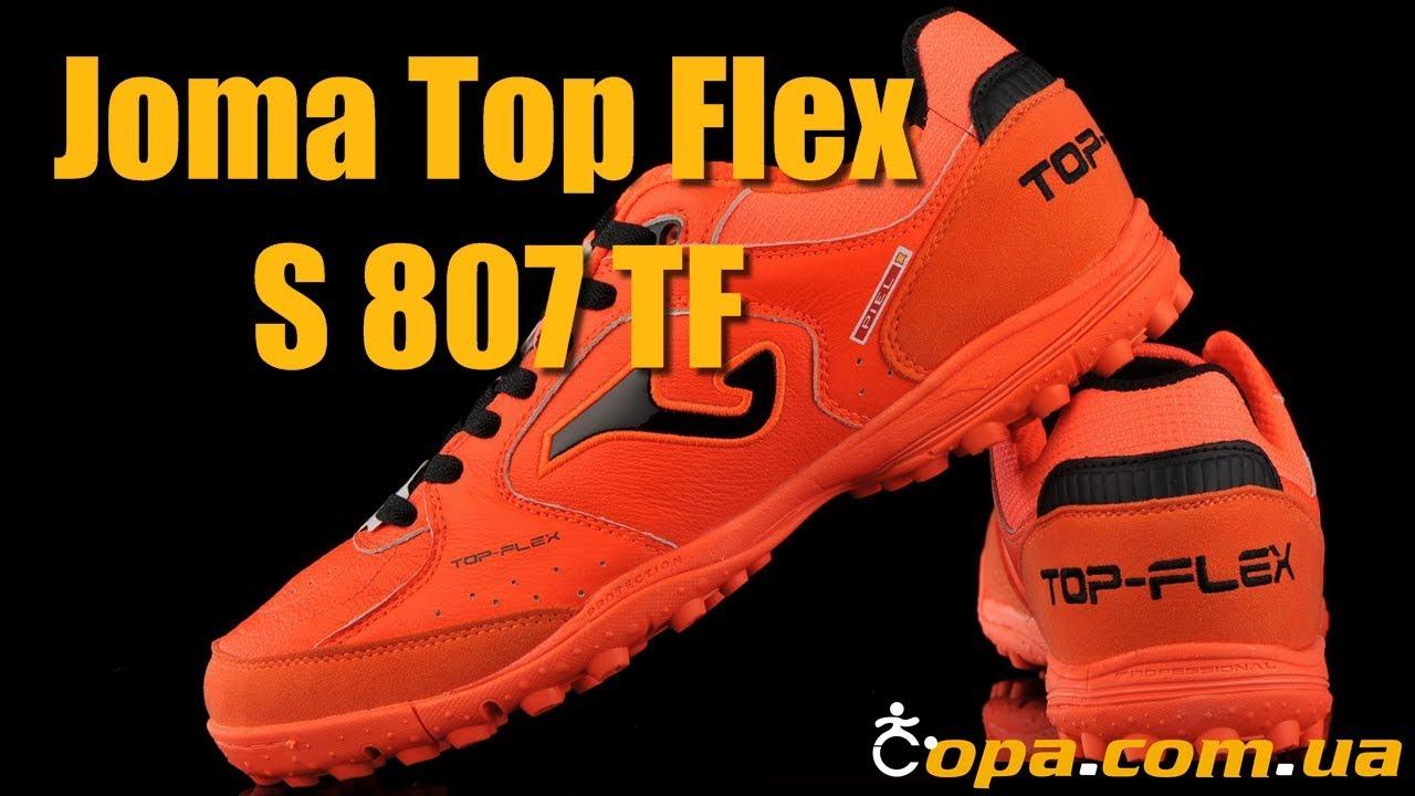 02c86a21 Кожаные сороконожки Joma Top Flex S 807 TF 2018 года! - YouTube