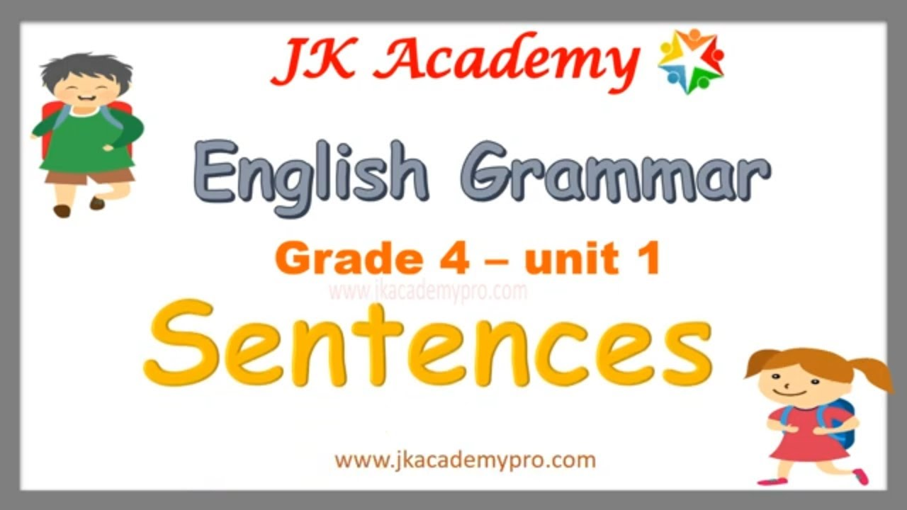 hight resolution of Types of sentences grade 4  What is a sentences? - YouTube